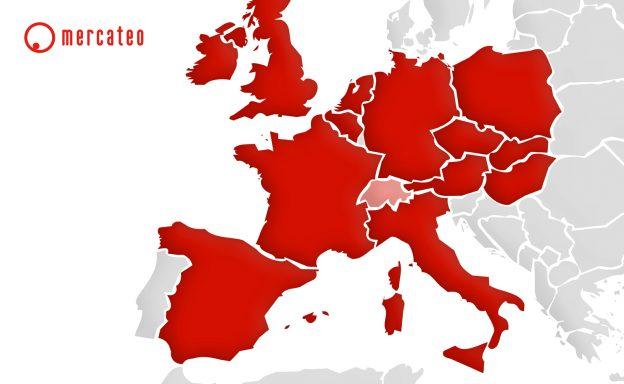 Mercateo Schweiz Europakarte
